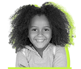 Happy young girl with healthy smile black and white